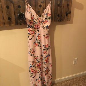 NWT pink Maxi Dress size medium